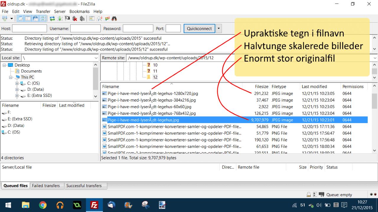 Fil eksempel 1 - store filer og underlige filnavne